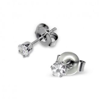 "Náušnice z chirurgické oceli s krystaly ""Cadell"""